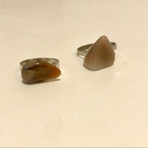 Adjustable Stone Rings
